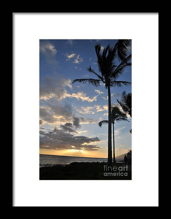 Maui Framed Print featuring the photograph Maui Sunset by Bill Long