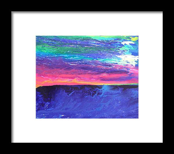 Fusionart Framed Print featuring the painting Maui Sunset by Ralph White