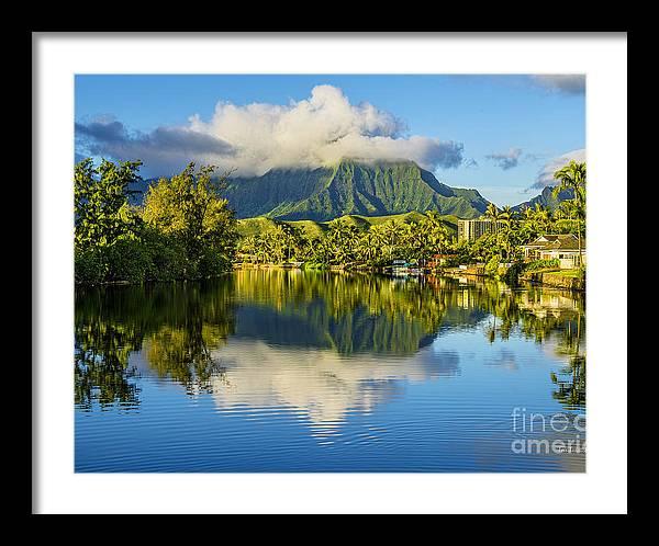 Maunawili Stream and the Koolau Mountains Cloudy by Aloha Art