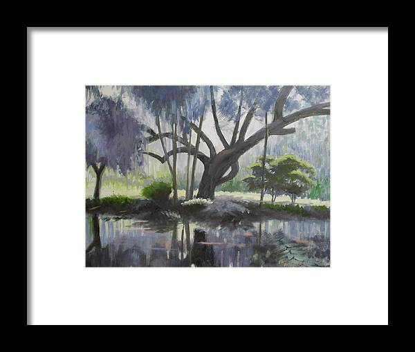 Mauve Framed Print featuring the painting Mauve Morning by Robert Rohrich