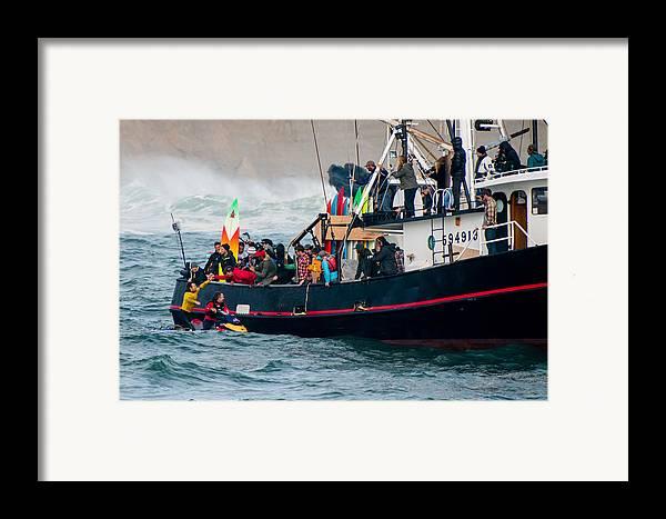 America Framed Print featuring the photograph Mavericks Invitational 2014 Series 19 by Josh Whalen