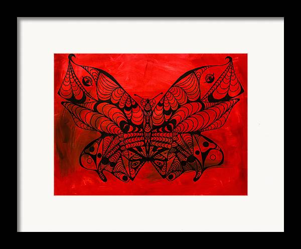 Max The Butterfly Framed Print featuring the painting Max The Butterfly by Kenal Louis