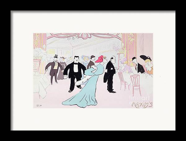 Parisian Restaurant Framed Print featuring the painting Maxims by Sem