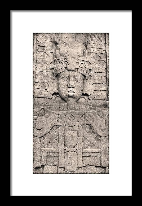 Maya Framed Print featuring the photograph Maya Copan by Kurt Van Wagner