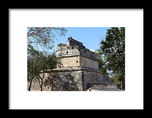 America Framed Print featuring the photograph Mayan Ruin At Chichen Itza by Jannis Werner
