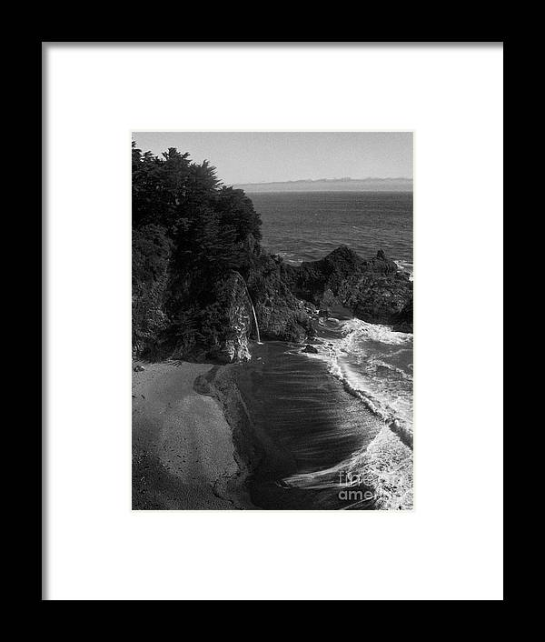 Portrait Framed Print featuring the photograph Mc Vay Falls In Monochrome by Chris Berry