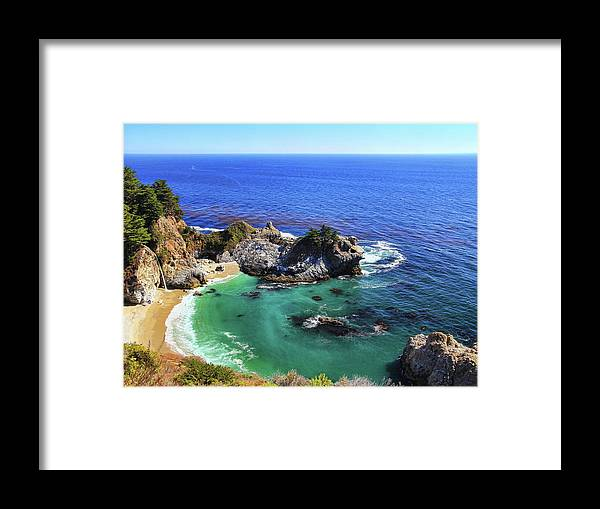 Scenics Framed Print featuring the photograph Mcway Falls by David Toussaint