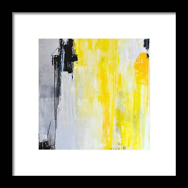 Abstract Painting Framed Print featuring the painting Medallion 2 by Charlen Williamson
