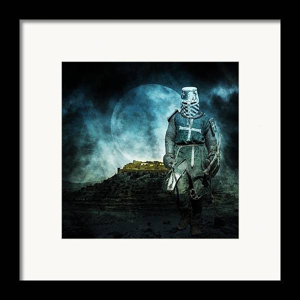 Ages Framed Print featuring the photograph Medieval Crusader by Jaroslaw Grudzinski