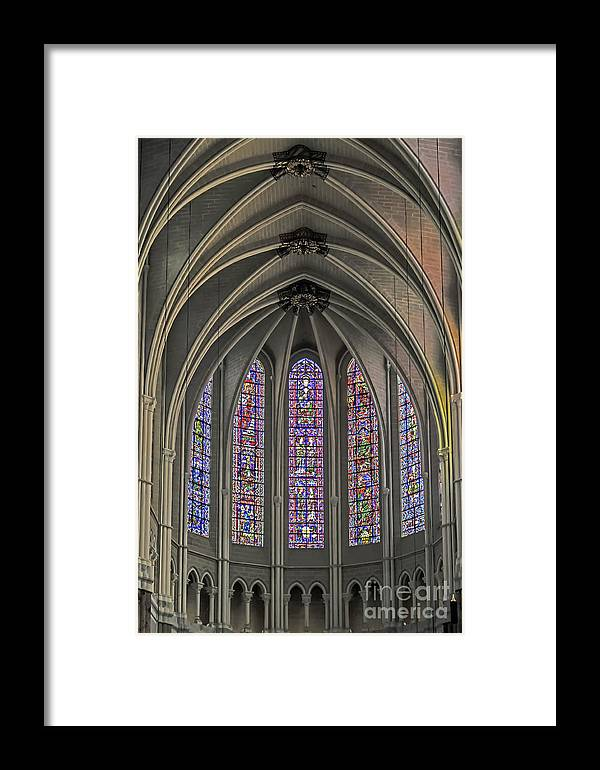 Travel Framed Print featuring the photograph Medieval Stained Glass by Elvis Vaughn
