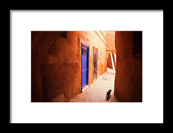Arch Framed Print featuring the photograph Medina Of Marrakesh by Moreiso