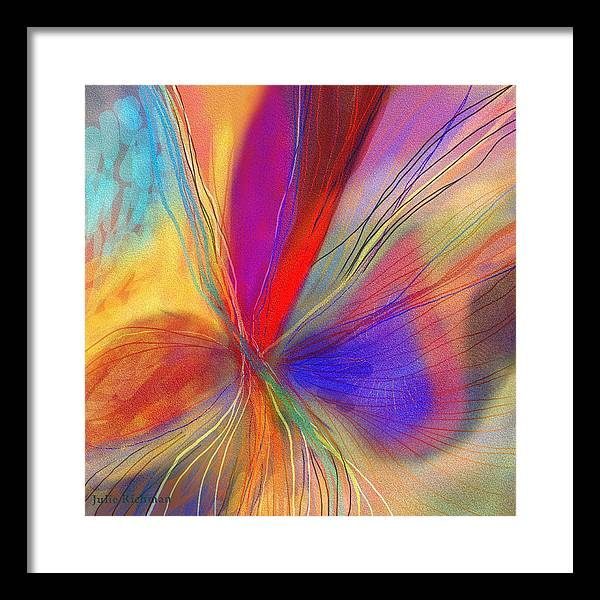 Abstract+art Framed Print featuring the drawing Meditate by Julie Richman