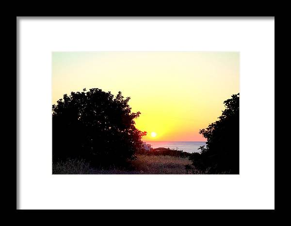 View Framed Print featuring the photograph What You Sea From The Mediterranean View by Hilde Widerberg