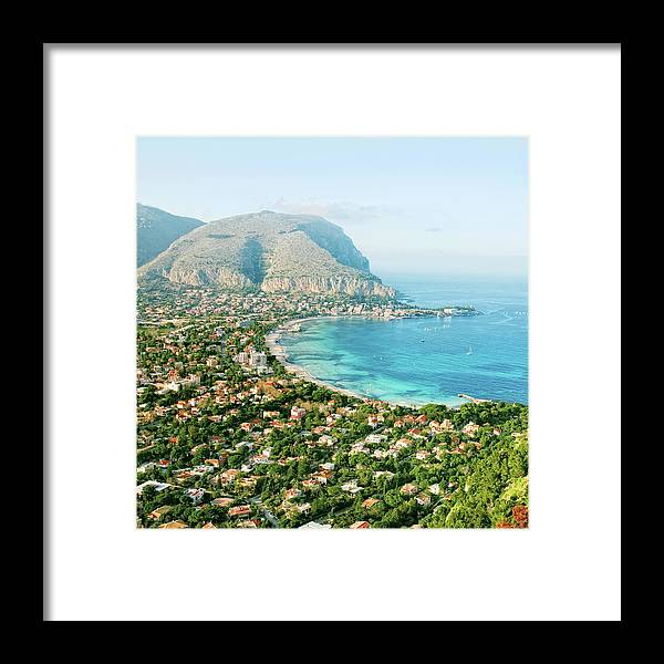 Sicily Framed Print featuring the photograph Mediterranean View by Peeterv