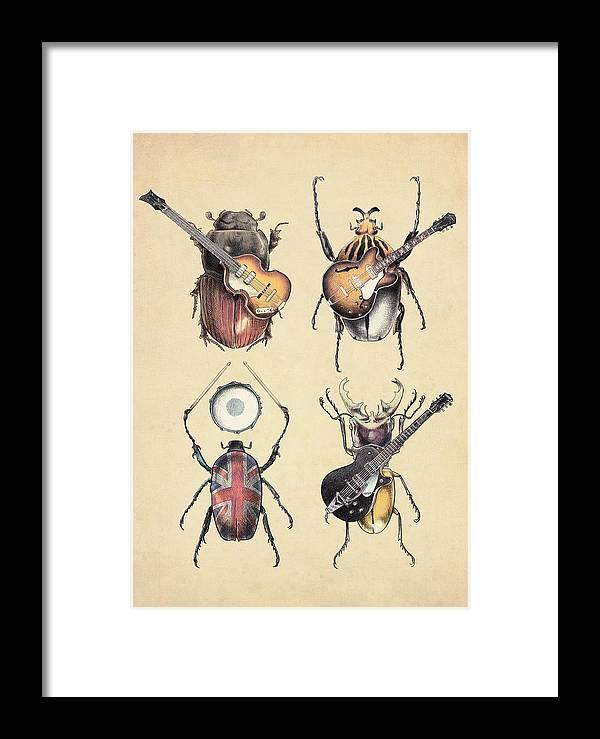 Beatles Framed Print featuring the digital art Meet The Beetles by Eric Fan