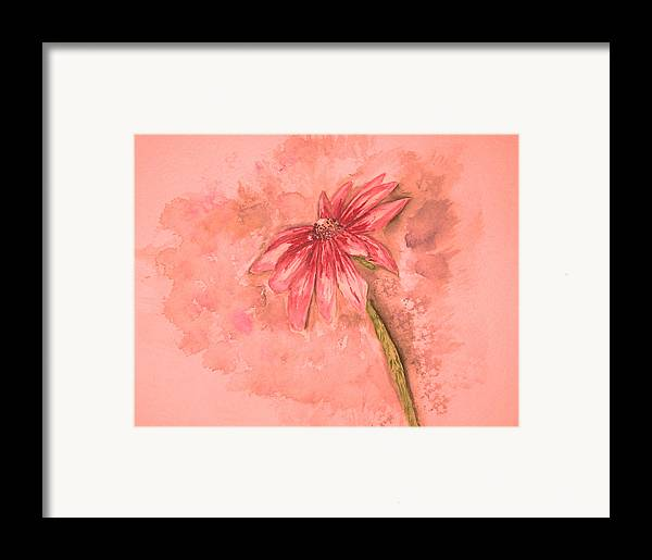 Watercolor Framed Print featuring the painting Melancholoy by Crystal Hubbard