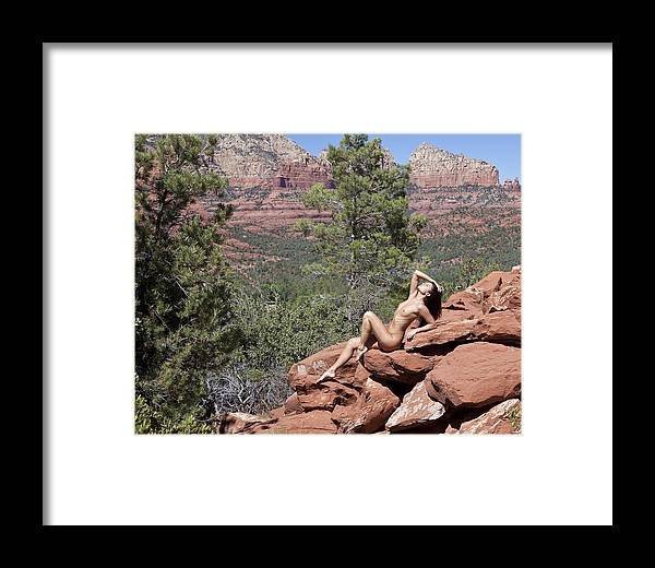 Model Framed Print featuring the photograph Melissa Sedona 10 by Joel Gilgoff