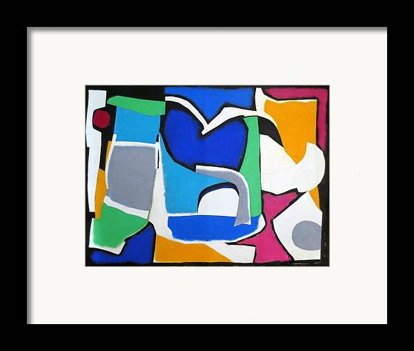 Mixed Media Collage Framed Print featuring the mixed media Melody by Diane Fine
