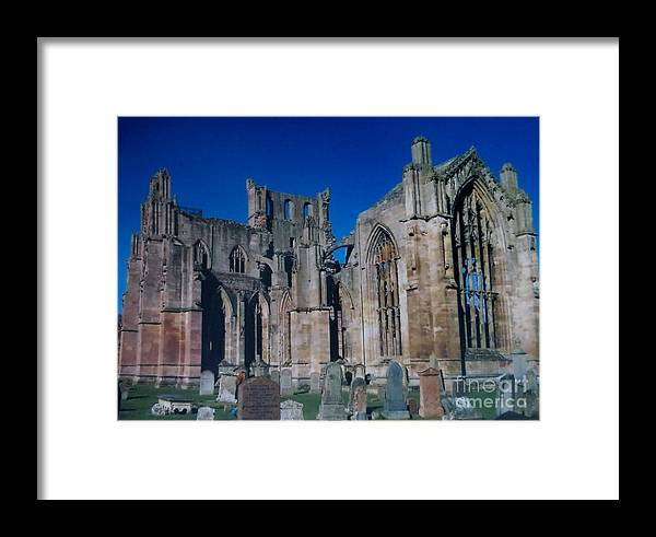 Abbey Framed Print featuring the photograph Melrose Abbey Scotland by Tim Townsend