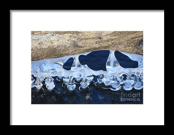 Ice Framed Print featuring the photograph Melting by Rick Rauzi