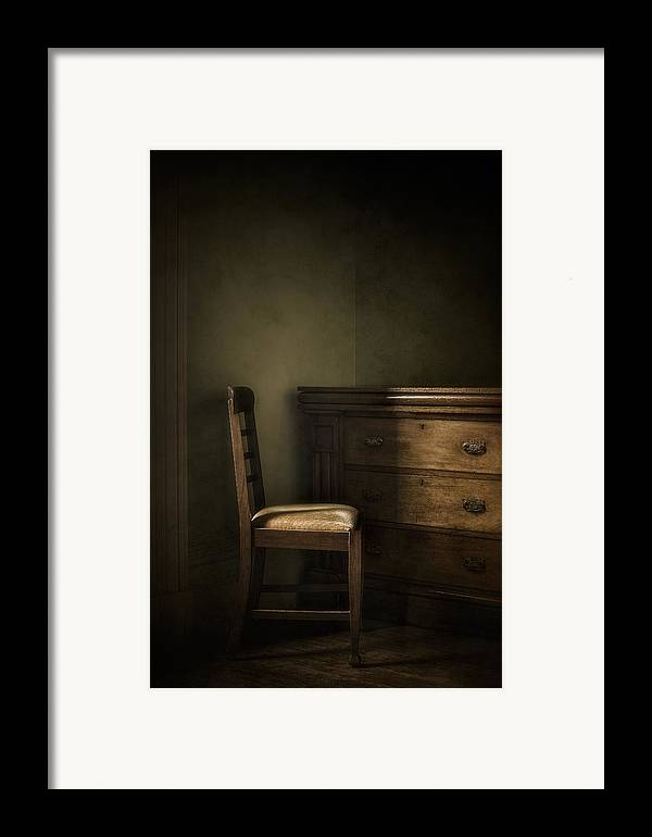 Chair Framed Print featuring the photograph Memories by Amy Weiss