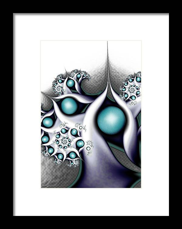 Fractal Framed Print featuring the digital art Memories Of Last Year by Marnie Gilbertson