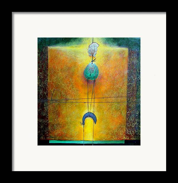 Abstract Framed Print featuring the painting Memory by Dale Witherow