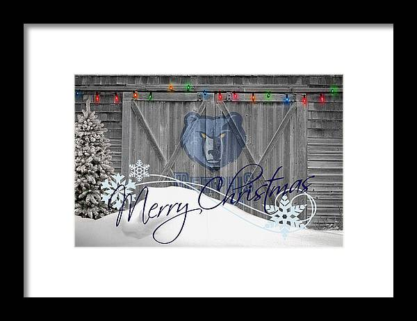 Grizzlies Framed Print featuring the photograph Memphis Grizzlies by Joe Hamilton