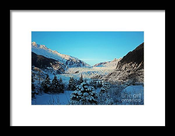 Framed Print featuring the photograph Mendenhall Glacier by Cait Lewis