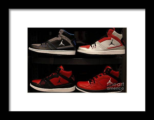 Shoe Framed Print featuring the photograph Men's Sports Shoes - 5d20653 by Wingsdomain Art and Photography