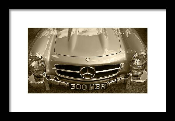 Mercedes Benz Framed Print featuring the photograph Mercedes Benz 300 Sl Roadster 1957 by Maj Seda