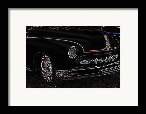 1950 Merc Framed Print featuring the photograph Mercury Glow by Steve McKinzie