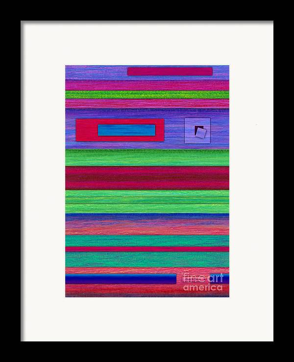 Colored Pencil Framed Print featuring the painting Merger by David K Small