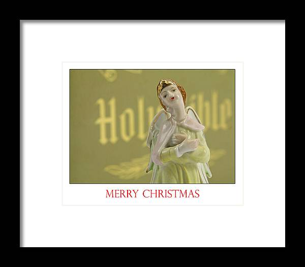 Christmas Framed Print featuring the photograph Merry Christmas Card by Kevin Devine