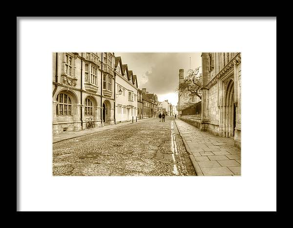 Oxford Framed Print featuring the photograph Merton Street Oxford by Chris Day