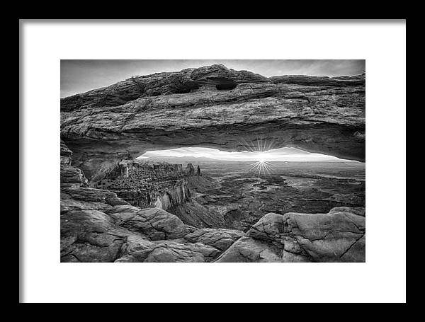 Moab Framed Print featuring the photograph Mesa Arch Sunrise by Stacy White