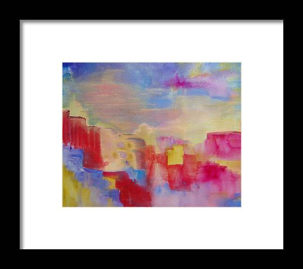 Watercolor Framed Print featuring the painting Mesa by Phoenix Simpson