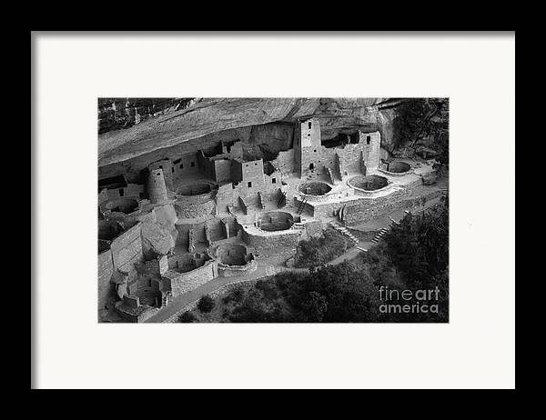 Mesa Verde Framed Print featuring the photograph Mesa Verde Monochrome by Bob Christopher