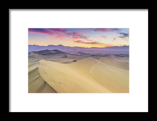 Tranquility Framed Print featuring the photograph Mesquite Flat Sand Dunes by Zx1106