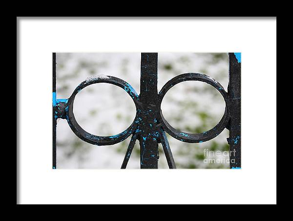 Metal Gates Fragment Framed Print featuring the photograph Metal Gates Fragment by Jolanta Meskauskiene