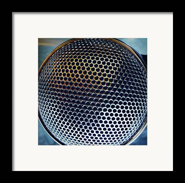 Metal Framed Print featuring the photograph Metal Mesh by Les Cunliffe