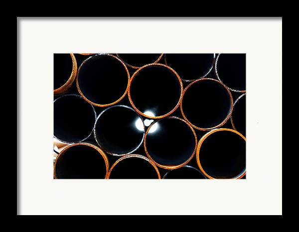 Metal Framed Print featuring the photograph Metal Pipes by Fabrizio Troiani