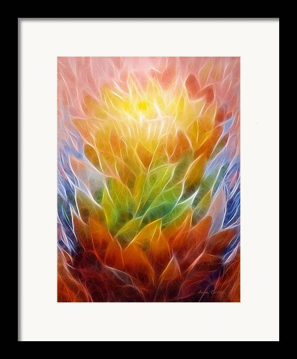 Abstract Framed Print featuring the digital art Metamorphosis by Ann Croon