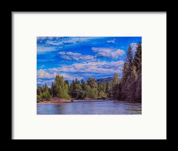 North Cascades Framed Print featuring the photograph Methow River Crossing by Omaste Witkowski
