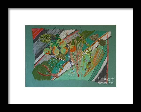 Still Life Framed Print featuring the painting Methow Valley Porch by Judith Van Praag