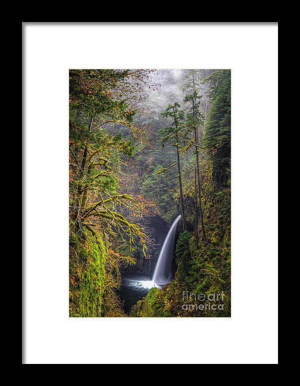 Columbia River Gorge Framed Print featuring the photograph Metlako Falls Oregon by Matt Hoffmann