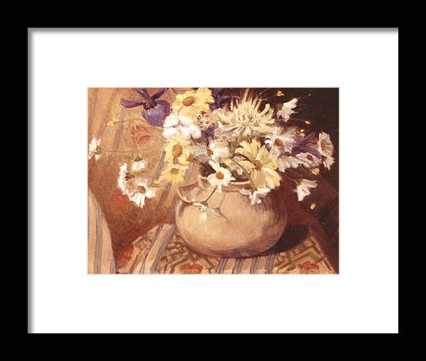 Mexican Bean Pot Framed Print featuring the painting Mexican Bean Pot by Joan Columbus