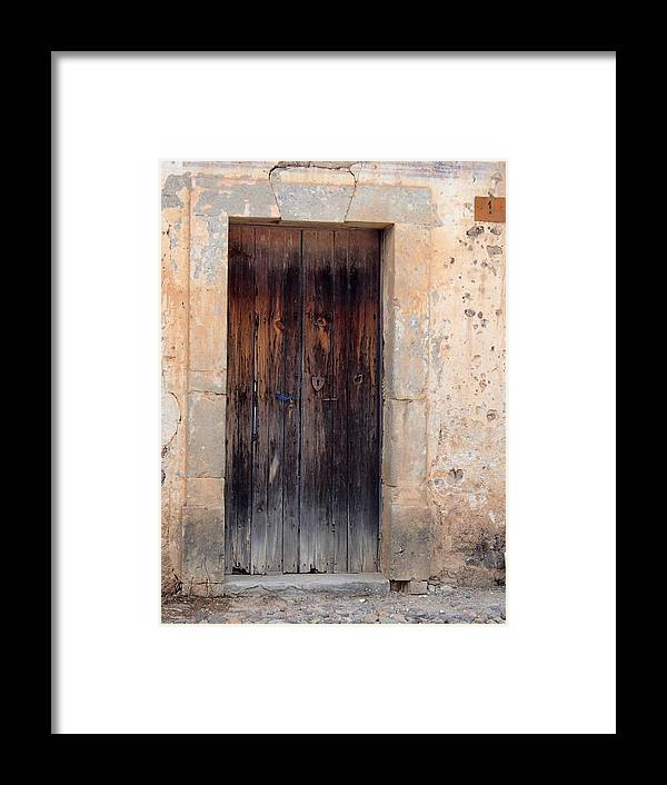 Door Framed Print featuring the photograph Mexican Door by Robin Stout
