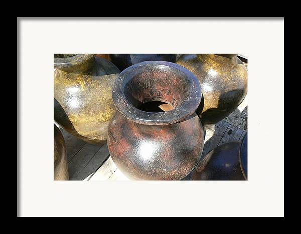 Pots Framed Print featuring the photograph Mexican Pot IIi by Scott Alcorn