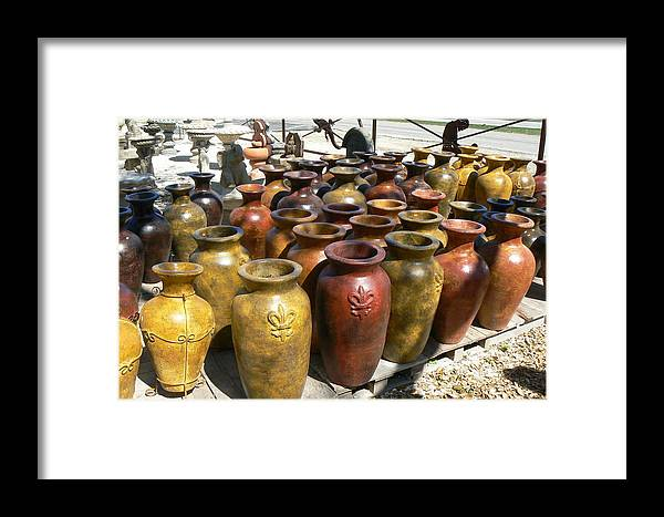 Pots Framed Print featuring the photograph Mexican Pots I by Scott Alcorn
